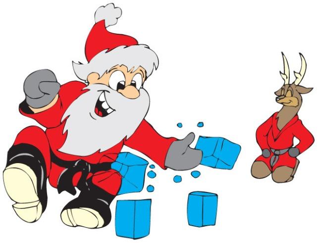 Santa-Karate-Chop